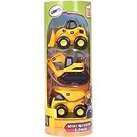 CAT 卡特彼勒 声光系列工程车组合三合一套装儿童玩具车挖土机运泥车装泥车(1盒3车) 移动或按动可发光(包装尺寸22*8*8cm)