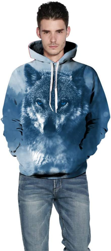 PU Frühling und Herbst Sweatshirt Männer Langarm Pullover mit Kapuze Sweatshirt 3D Theme Print Frauen und Männer Sweatshirts,** L ** L