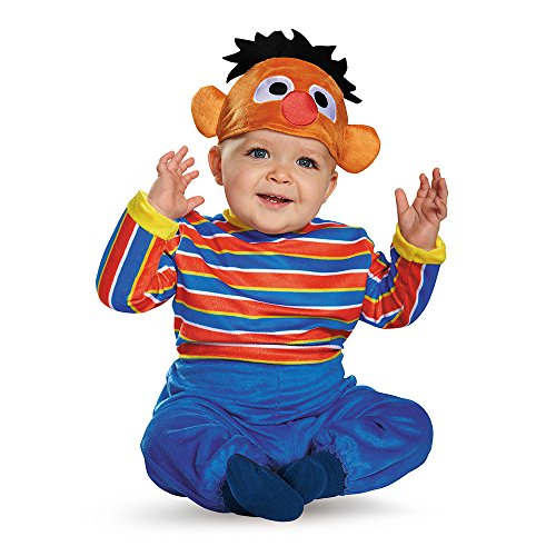 Disguise Baby Boys' Ernie Deluxe Infant Costume, Multi, 12-18 Months