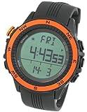 [Lad Weather] Watches German Sensor Digital Quartz Compass Altimeter Barometer Chronograph Countdown Timer Lap Time Alarm Outdoor Sport (Climbing/ Hiking/ Running/ Walking/ Camping) Men Women Orange