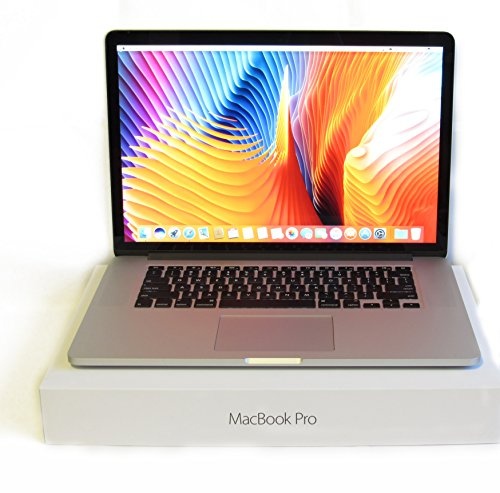 (Mid 2015) Apple MacBook Pro 15-Inch Retina Laptop Force Touch Quad i7 2.2GHz - 3.4GHz • 16GB DDR3 Ram • 1TB SSD • Intel Iris Pro 5200 • High Sierra • HDMI • USB 3.0 ()
