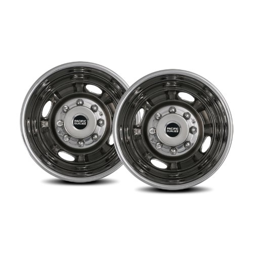 Pacific Dualies 29-3608 16'' Stainless Steel Wheel Simulator Rear Tag-Axle Kit for 2001-2007 Chevy GMC 3500 Truck 2003-2014 G30 Van RV Motorhome by Pacific Dualies