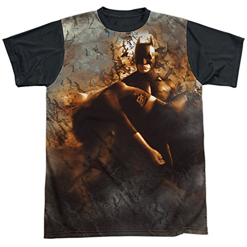 Trevco Men's Batman Begins Carried Away Short Sleeve Sublimated T-Shirt at Gotham City Store