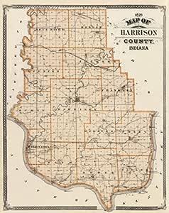 Amazon Com Harrison County Indiana In Landowner Map 1876