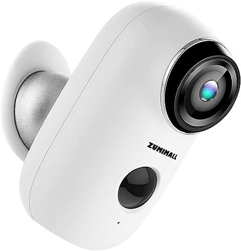 ZUMIMALL Wireless Rechargeable Battery Powered WiFi Camera
