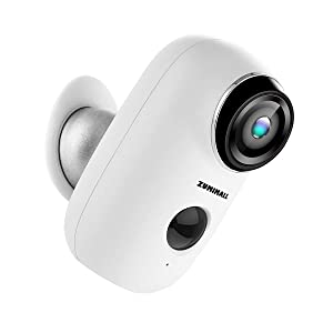 Wireless Rechargeable Battery Powered Camera, Home Security System, Night Vision, Indoor/Outdoor, HD Video with Motion Detection, 2-Way Audio Talk WiFi Camera, IP65 Waterproof, Built-in SD Slot