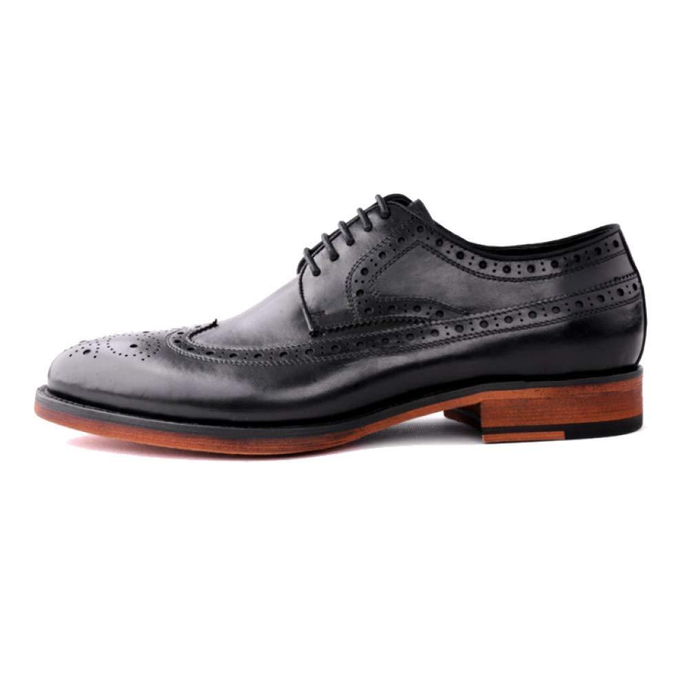 NIUMT Bullock Herren Lederschuhe Und Lace up Schuhe Stilvoll Und Lederschuhe Komfortabel Atmungsaktiv. Wear Resistant Braun e56e9a