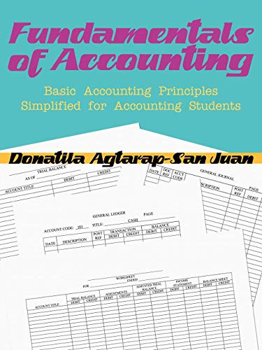 FUNDAMENTALS OF ACCOUNTING: BASIC ACCOUNTING PRINCIPLES SIMPLIFIED FOR ACCOUNTING STUDENTS