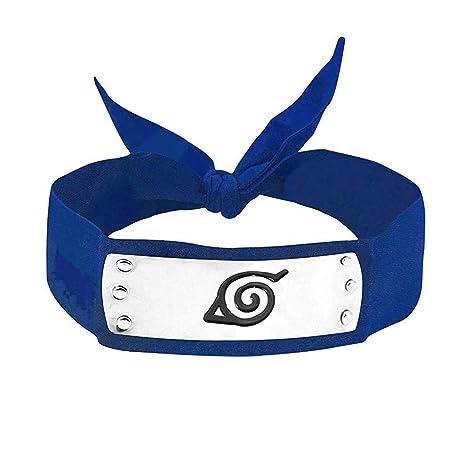 MINGZUO Naruto Cosplay Diadema Ninja Konoha Azul
