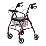 Lumex Walkabout Lite Four Wheel Rollator, Burgundy