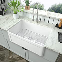Farmhouse Kitchen 30 White Farmhouse Sink – Mocoloo 30 Inch Kitchen Sink Apron Front White Ceramic Porcelain Fireclay Single Bowl Farm… farmhouse kitchen sinks