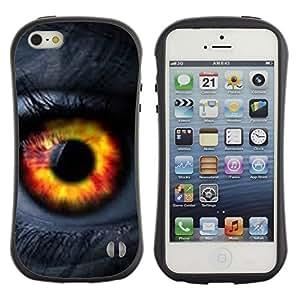 LASTONE PHONE CASE / Suave Silicona Caso Carcasa de Caucho Funda para Apple Iphone 5 / 5S / eye fire orange passion woman lashes