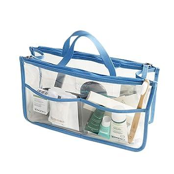 Amazon.com: Bolsas de cosméticos de PVC transparente ...