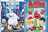 Wheres Theres Christmas There is Snow - Cloudy With a Chance of Meatballs: Lobster Claws is Coming to Town & Norm of the North 2-DVD Bundle