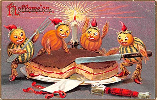 Halloween Post Card Old Vintage Antique Raphael Tuck Publishing 1908
