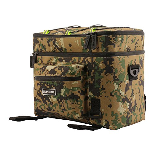 [Bike Bag] [Bike Pannier]Bicycle Bag Waterproof, Travellor® Rear Seat Bag Trunk Pouch Shoulder With Rainproof Cover(Camouflage)