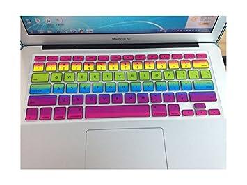 Etiqueta engomada de la computadora Cubierta de Teclado Impresa Arco Iris Macbook Keyboard National Flag para Air13.3 Calcomanías de calcomanías: Amazon.es: ...