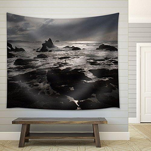 Seashore at The Dusk Fabric Wall