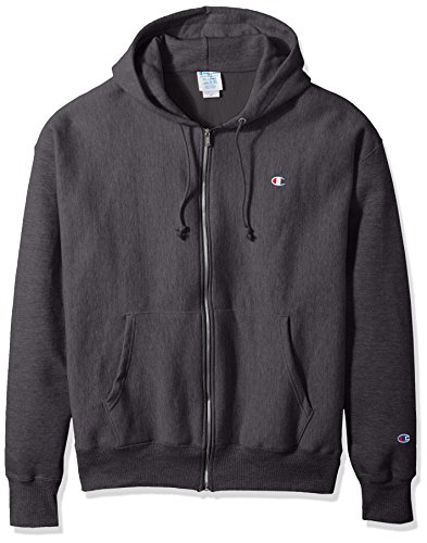 - Champion LIFE Men's Reverse Weave Full-Zip Hoodie, Granite Heather, M