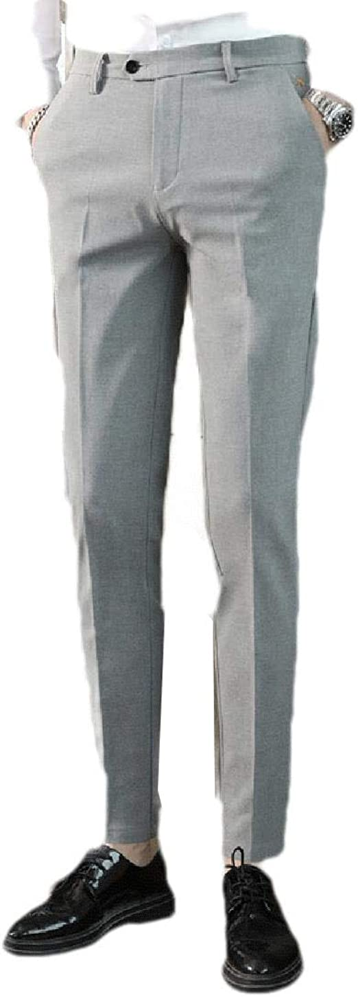 AngelSpace Mens Middle Waist Relaxed Fit Business Straight Leg Non-Iron Dress Pant