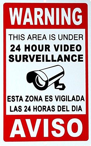 Burglar Bill Costume Ideas (1 Pc Paradisiac Popular Security Signs CCTV Reflective Anti-Robber Anti-Burglar Size 7
