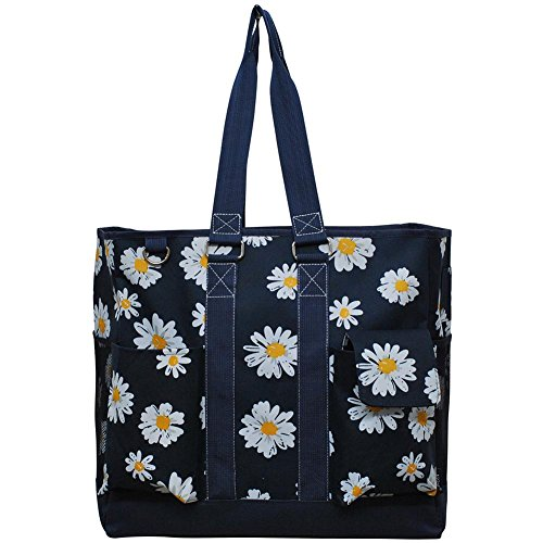 NGIL All Purpose Organizer Tall Tote Bag Spring 2018 Collection (Daisy Navy) by NGIL