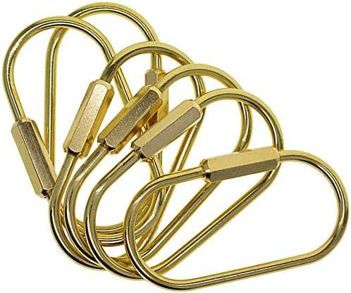 6 St/ück EPRHAY Messing Karabiner Schnalle Pack Heavy Duty Schl/üsselanh/änger-Clip Schraube Lock Ring Key Chain Clip Haken Schraube Torschnalle DIY Schl/üsselringe zum Aufh/ängen Basteln Schl/üssel