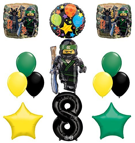 The Ultimate Lego Ninjago 8th Birthday Party Supplies and Balloon Decorations]()