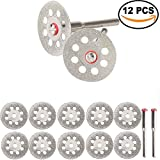 vented googles - ZFE Mini Sharp 22mm Vented Rotary Diamond Glass Gemstones Cutting Discs Disks Diamond Cutting Disc+Mandrel For Dremel Rotary Tools DIY Pack Of 10Pcs