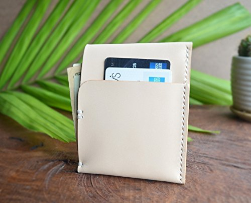 Handmade Vegetable Tanned Leather Slimline Front Pocket Wallet, ID Credit Card Wallet