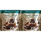 Edward Marc Chocolatier Coconut Almonds Dark Chocolate 32 oz. (2 bags of 32 oz.)
