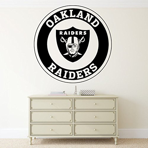 Oakland Raiders NFL Wall Vinyl Decal Emblem Sticker Football Logo Sport Home Interior Removable Decor (22