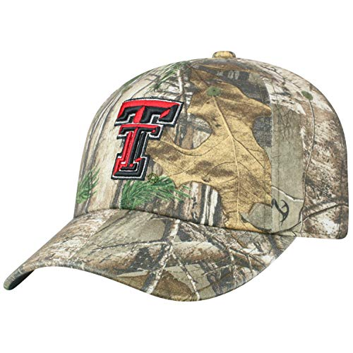 Top of the World Texas Tech Red Raiders Men's Camo Hat Icon, Real Tree Camo, Adjustable