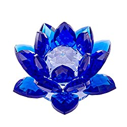 Sapphire Crystal Lotus Flower Feng Shui