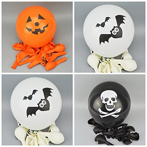 ([USA-SALES] Happy Halloween Day Party Balloons Qty. 20, Premium Quality, Assorted Colors, by Usa-Sales)