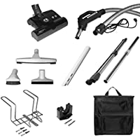 Clean Obsessed Deluxe Central Vacuum Kit With 12 Sebo Power Nozzle with 35 FT Pigtail Hose