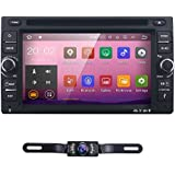 6.2 inch Android 7.1 Double Din in Dash Radio Car Video Receiver DVD Player Bluetooth WiFi 4G GPS Navigation System Rear Camera