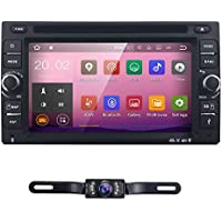 6.2 inch Android 7.1 Double Din In Dash Radio Car Video Receiver DVD Player with Bluetooth Wifi 4G GPS Navigation System Rear Camera