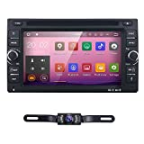 6.2'' inch Android 7.1 Double Din In Dash Radio Car Video Receiver DVD Player with Bluetooth Wifi 4G GPS Navigation System Rear Camera