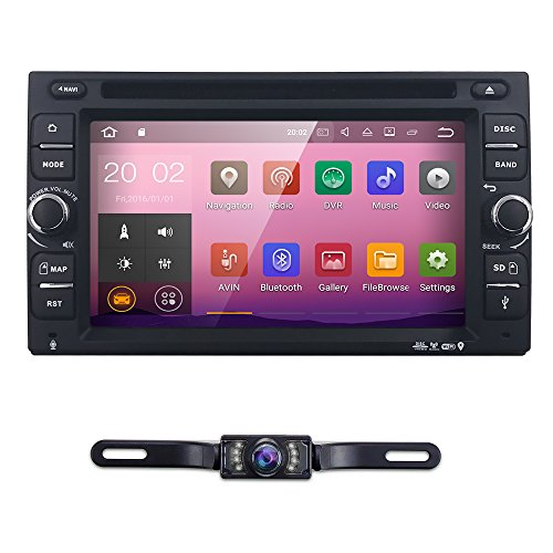 6.2″ inch Android 7.1 Double Din In Dash Radio Car Video Receiver DVD Player with Bluetooth Wifi 4G GPS Navigation System Rear Camera
