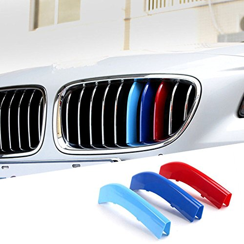 Tacraft BMX1 3-Color Kidney M-Tech Grille Insert Trim Stripe Cover For E84 BMW X1 Grille Insert 2009-2015
