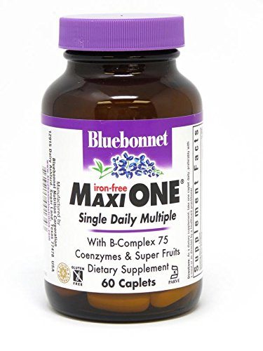 Bluebonnet Maxi One Iron Free Caplets, 60 Count -