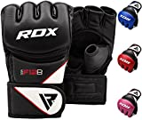 RDX MMA Gloves Grappling Martial Arts Sparring Punching Bag Cage Fighting Maya Hide