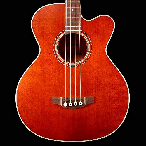 Takamine PB5 ANS 4 Strings Acoustic Electric Bass Guitar with CT4-DX Electronics - Gloss Aged Natural Stain ()
