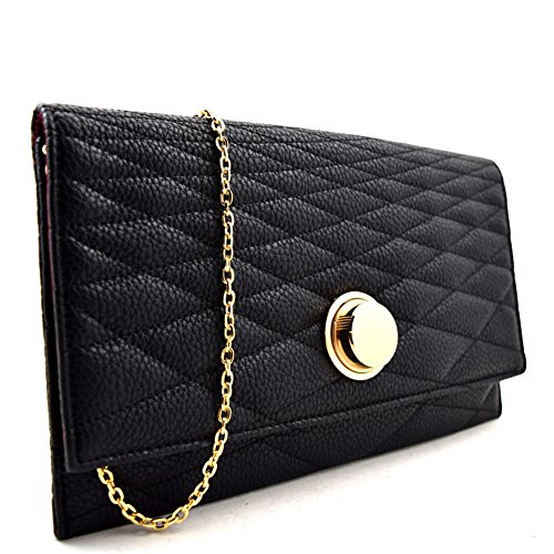 Quilted Envelope Clutch - 6