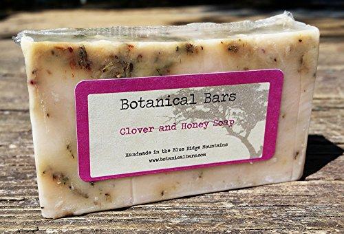 Botanical Bars Handmade Clover and Honey Soap Bar 4.5 (Red Clover Honey)