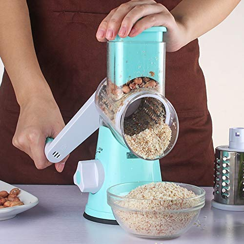 Graters - Carrot Slicer Cheese Grater Stainless Steel Blades Vegetable Cutter Manual Round Mandoline Potato - Nutmeg Gloves Garlic Skin Steel Scraper Tower Medium Juicer Foot Over Cheese ()