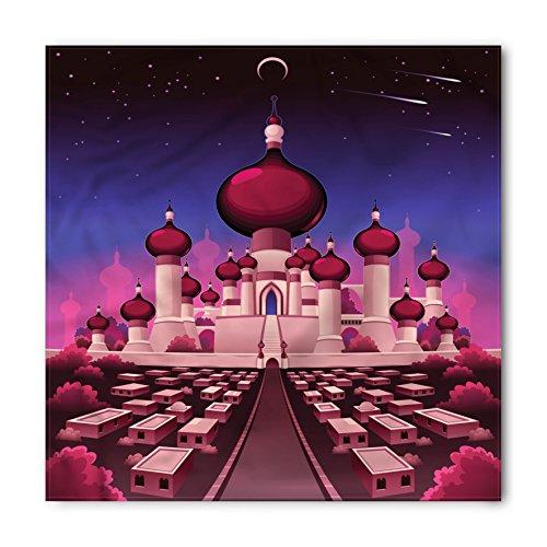 Ambesonne Fantasy Bandana, Arabian Castle at Night, Unisex Head and Neck -