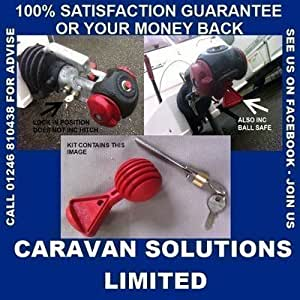 CARAVAN AKS 1300 HITCH LOCK & SAFETY BALL KIT SAVE £££££££