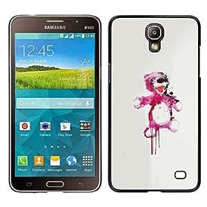 YiPhone /// Prima de resorte delgada de la cubierta del caso de Shell Armor - Oso de peluche rosado de la salpicadura - Samsung Galaxy Mega 2